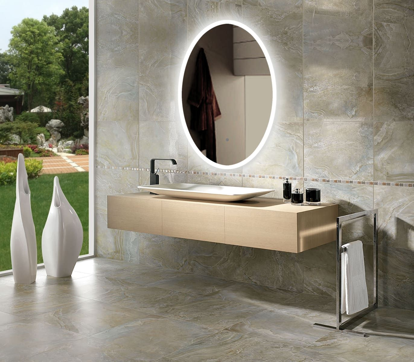 Miseno Mm2436led Mit Bildern Wc Spiegel Badezimmer Spiegel