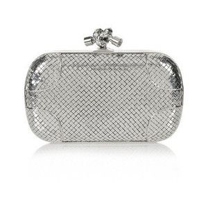 Bottega Veneta Knot sterling silver clutch