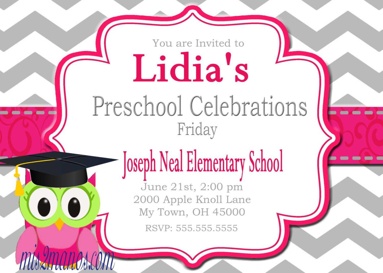 kindergarten and preschool graduation invitations  kindergarten, invitation samples