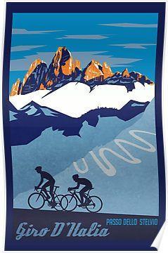 Giro D Italia Retro Passo Dello Stelvio Cycling Poster Poster By Sfdesignstudio Cycling Posters Poster Prints Posters Art Prints