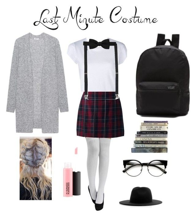"""Pretty nerd costume"" by mariaeramos801 ❤ liked on Polyvore featuring Lands' End, RE/DONE, Lanvin, Acne Studios, Vans, MAC Cosmetics and Études"