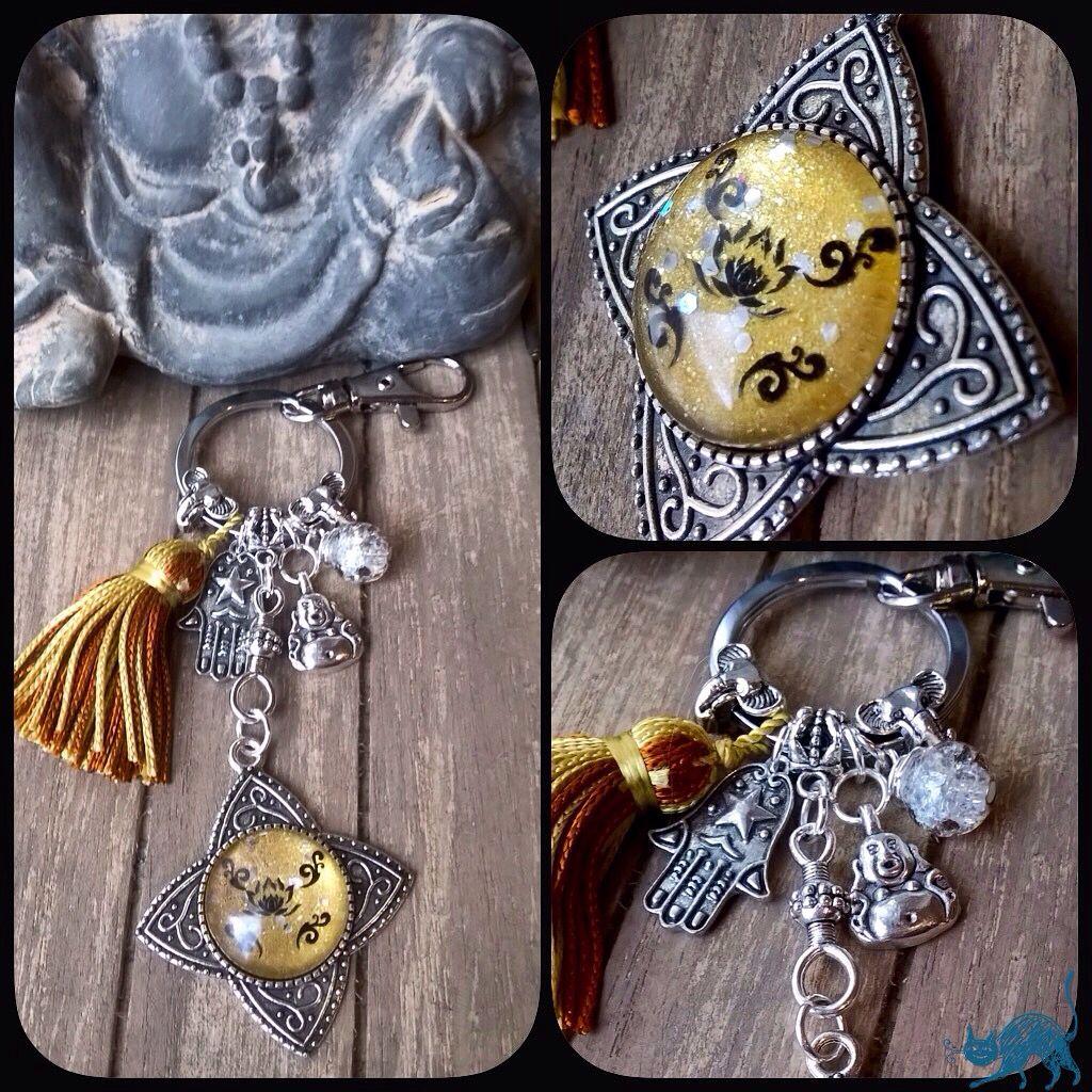 "Porte-clés/bijou de sac Nail Art  ""Zen"" Les malices D'hanigrigri"