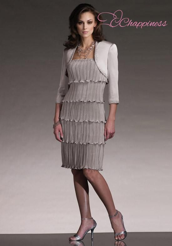 Beaded Mother of the Bride Dresses Knee Length