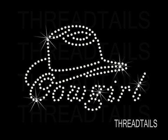 9f4fc59b750 Cowgirl and cowboy hat rhinestone bling tshirt. by Threadtails ...