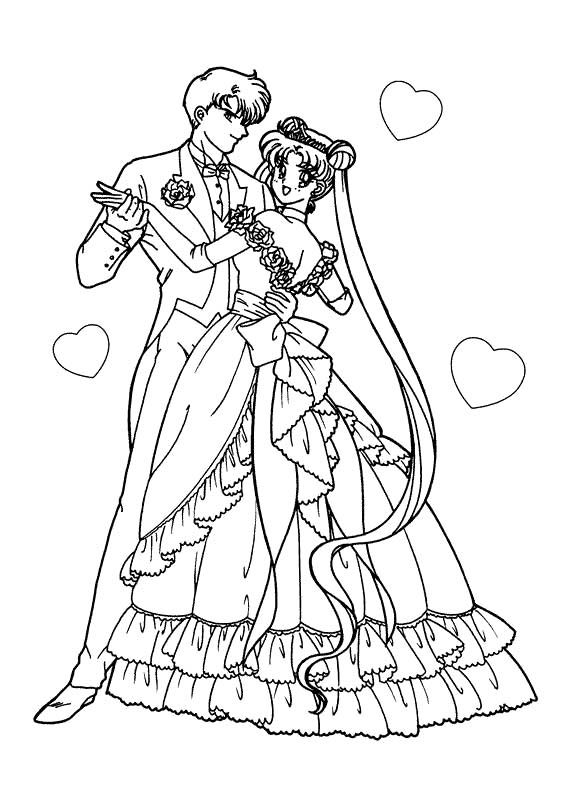Sailor Moon Dance With Boyfriend Coloring Pages | coloring pages ...