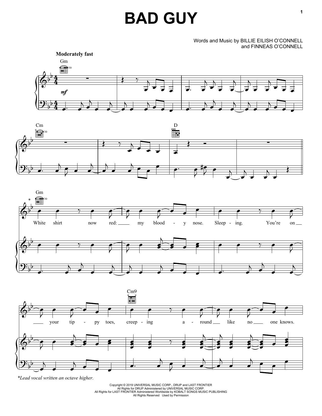 Billie Eilish Bad Guy 412417 Cello music, Cello sheet