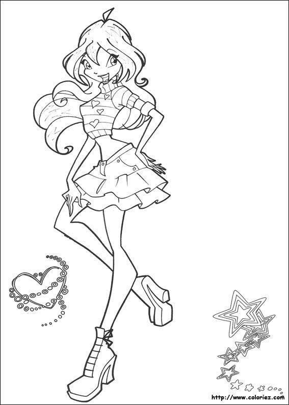 Coloriage Winx Enfants Cartoon Coloring Pages Winx Club Et