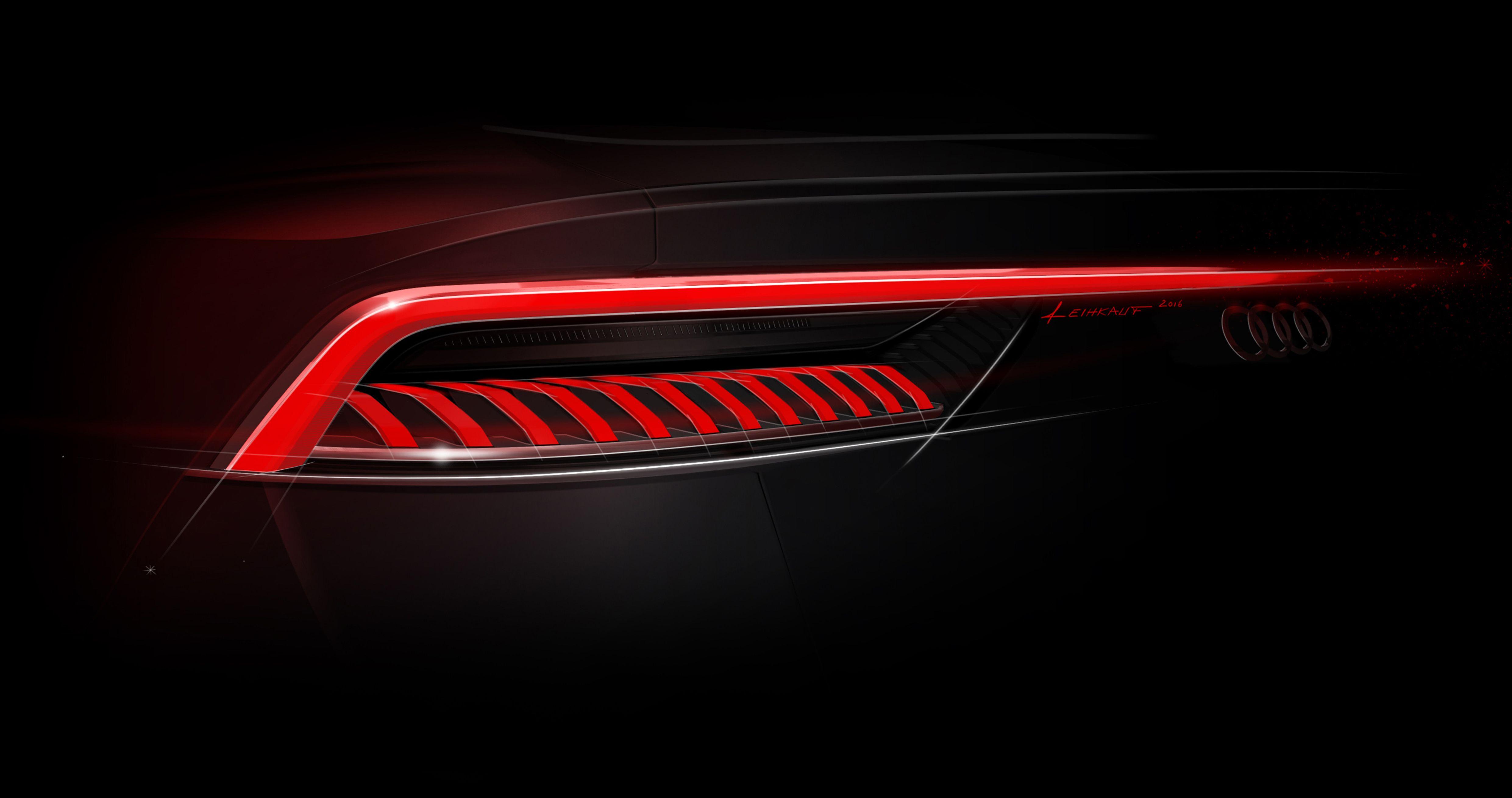 Audi Q8 Taillight Design Automotive Design Led Tail Lights Car Design Sketch