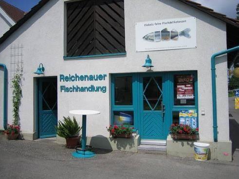 """""""Reichenauer Fischhandlung"""" der Familie Riebel"""
