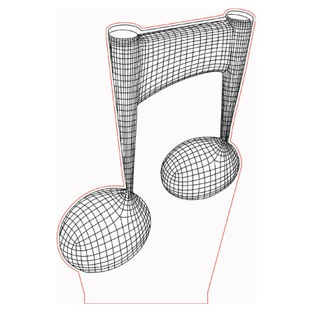 Music Note 3d Illusion Lamp Vector File For Laser And Cnc 3bee Studio 3d Illusion Lamp 3d Illusions Illusions