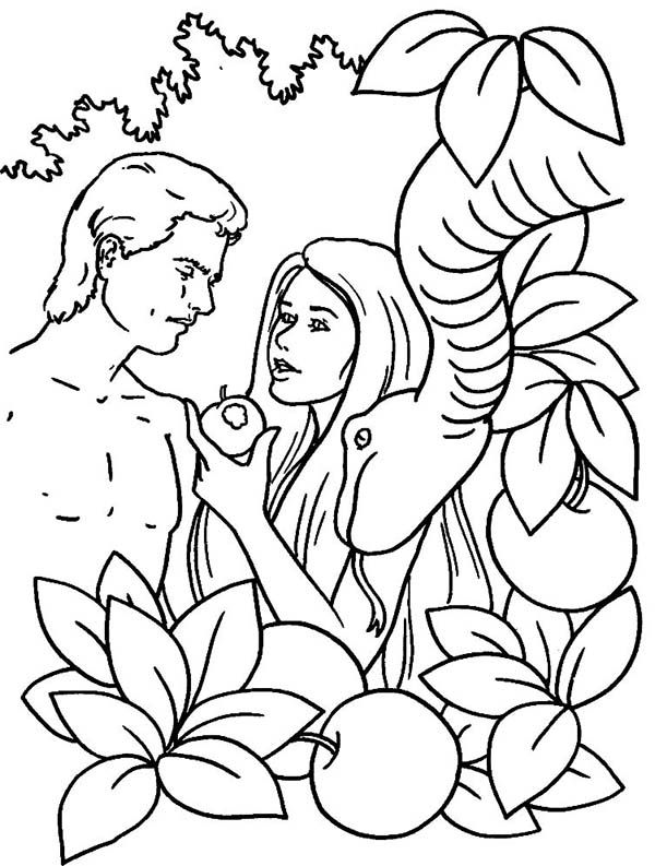 Dont forget to share Adam and Eve Coloring Pages on Facebook