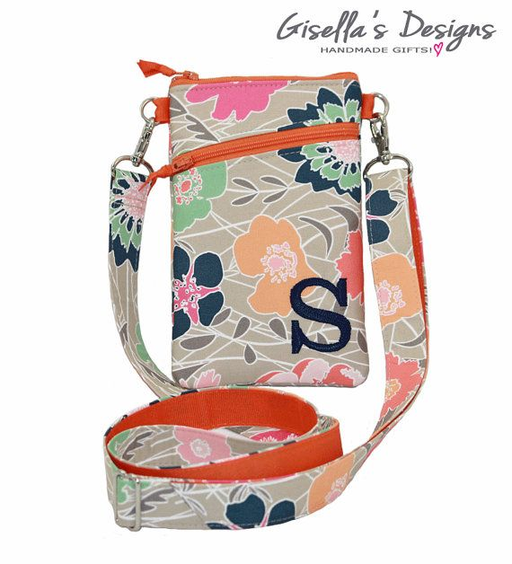 24e1ce98a4fb iPhone 7 plus floral Crossbody bag, Personalized iPhone 7 shoulder ...