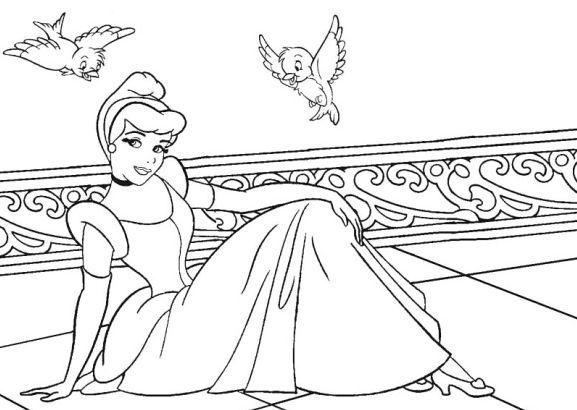 Coloring Page Disney Princess Cinderella coloring pages