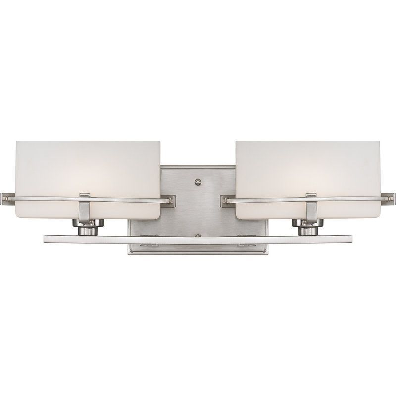 Quoizel NN Nolan Light Wide Reversible Halogen Bathroom - Halogen bathroom vanity lights