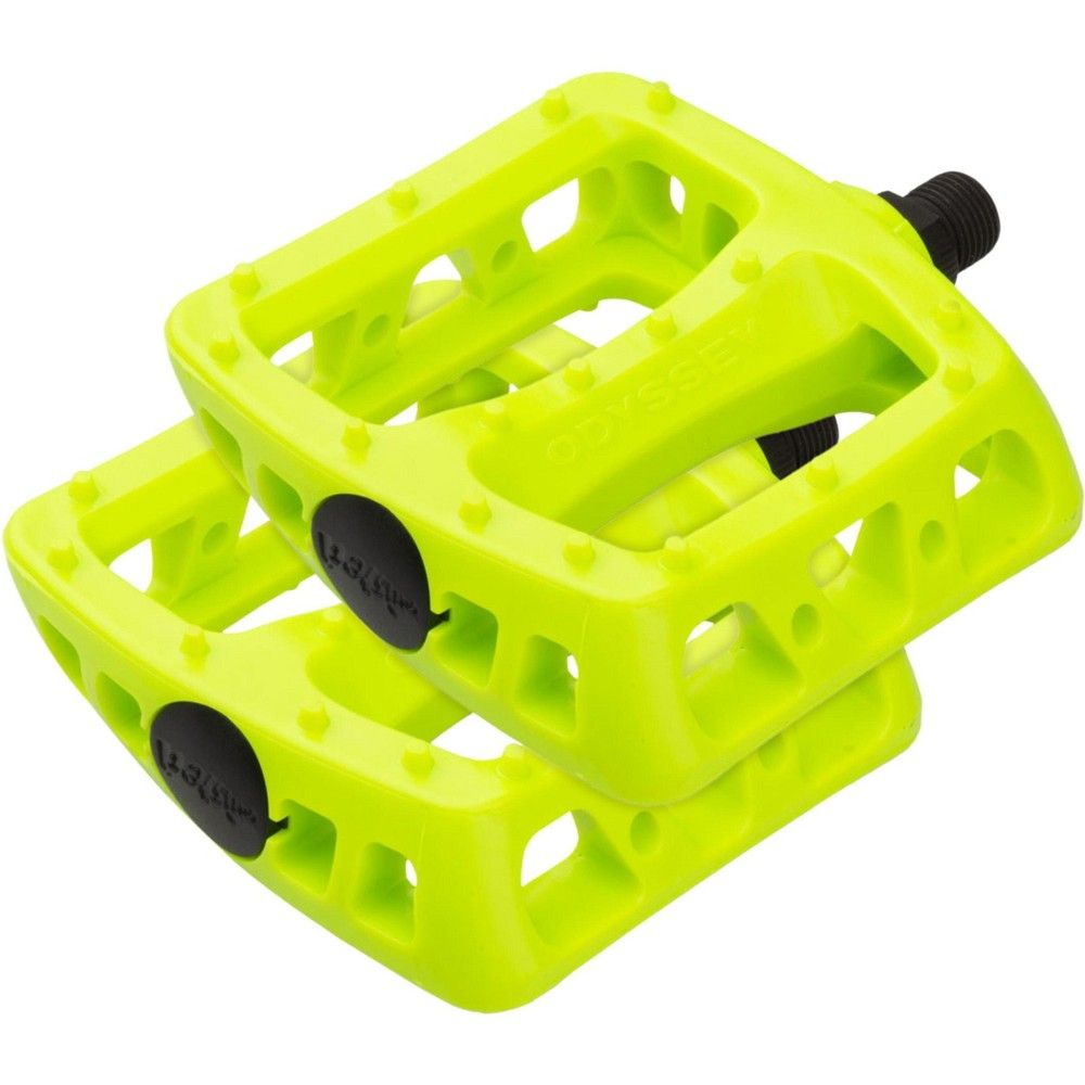 """Odyssey Twisted PC 1//2/"""" Plastic Platform Pedals White"""