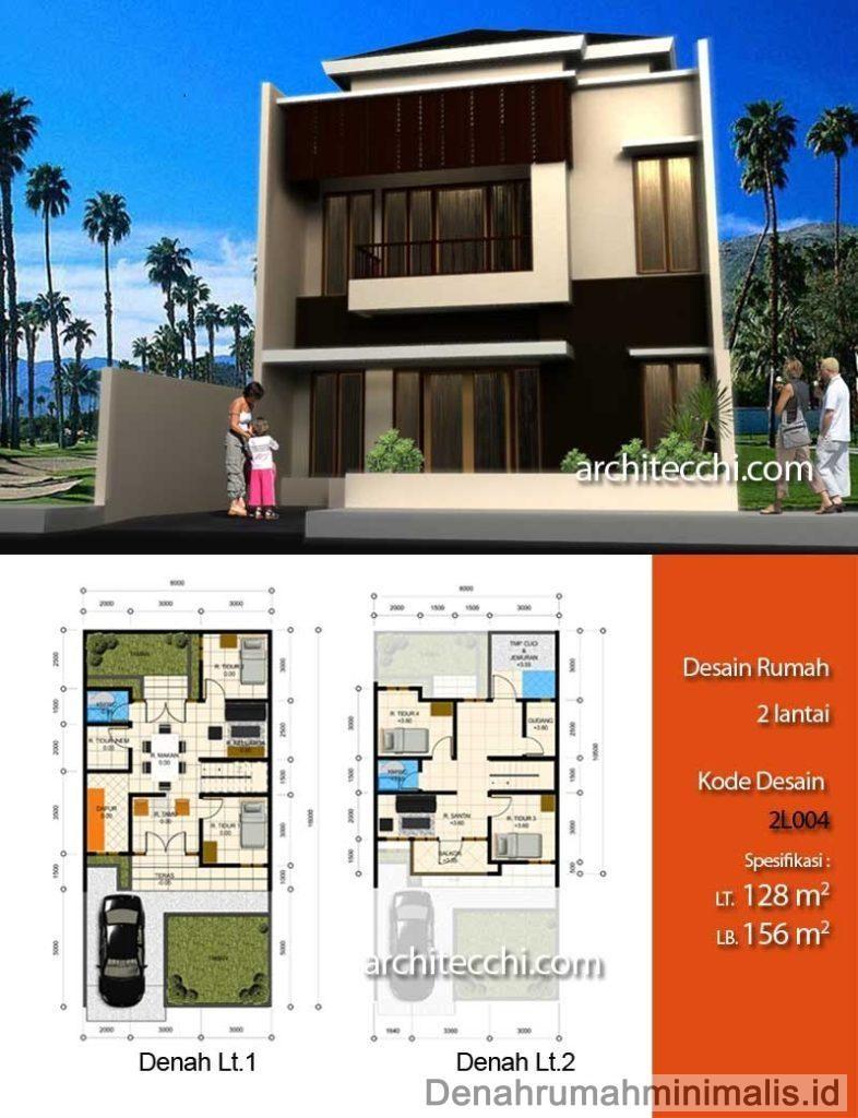 Desain Rumah Minimalis 2 Lantai Beserta Denah Architectural Design House Plans House Layouts House Layout Plans