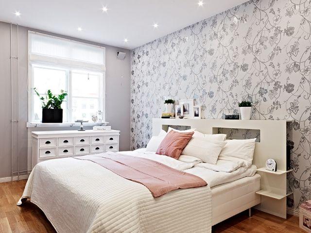 schlafzimmergestaltungweissgraurosamodernshabbychic