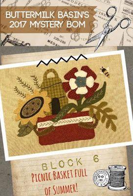 Halloween Gatherings Woolen BOM Quilt Buttermilk Basin Pattern