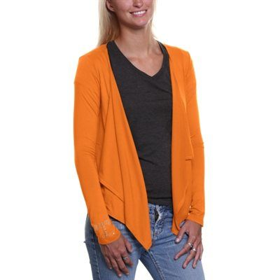 Tennessee Volunteers Ladies Two Pocket Cardigan - Tennessee Orange ...