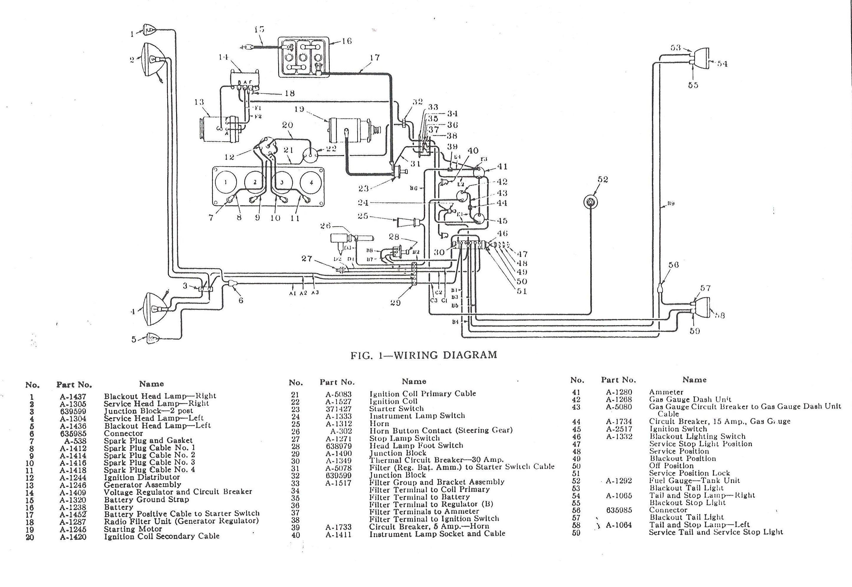 hight resolution of 1953 willys wiring diagram schematic simple wiring post diamond reo pick up 1953 willys pick up wiring schematic