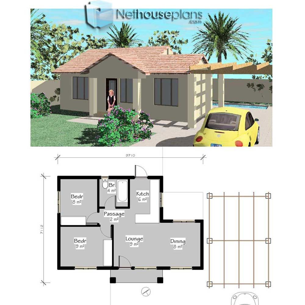 Simple House Plans Small House Plans Pdf Free House Nethouseplans 2 Bedroom House Plans House Plans Single Floor House Design