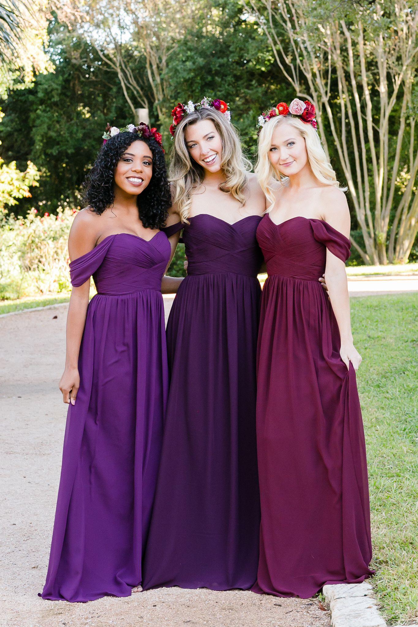 Kennedy Chiffon Convertible Dress | Unique bridesmaid dresses, Maids ...