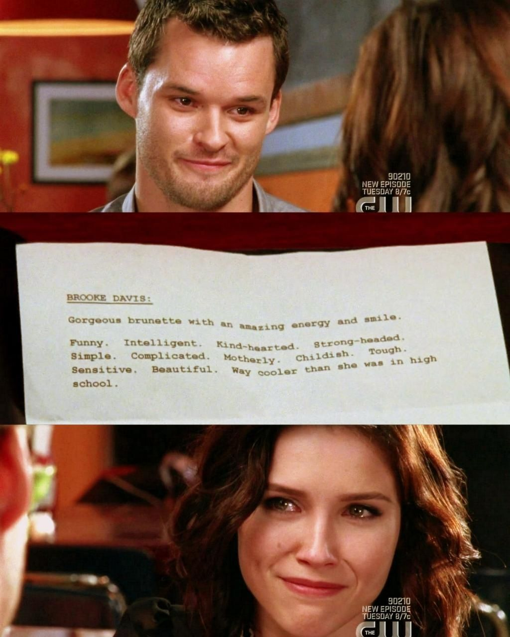 julian's description of brooke. the tears in her eyes say it