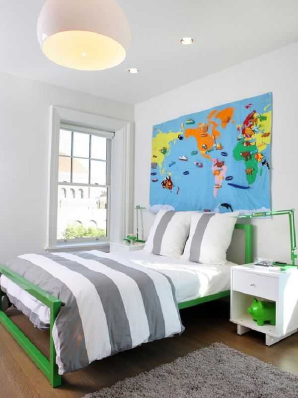Kids Bedroom Renovation cool world map kids bedroom wall decor - decorating ideas world
