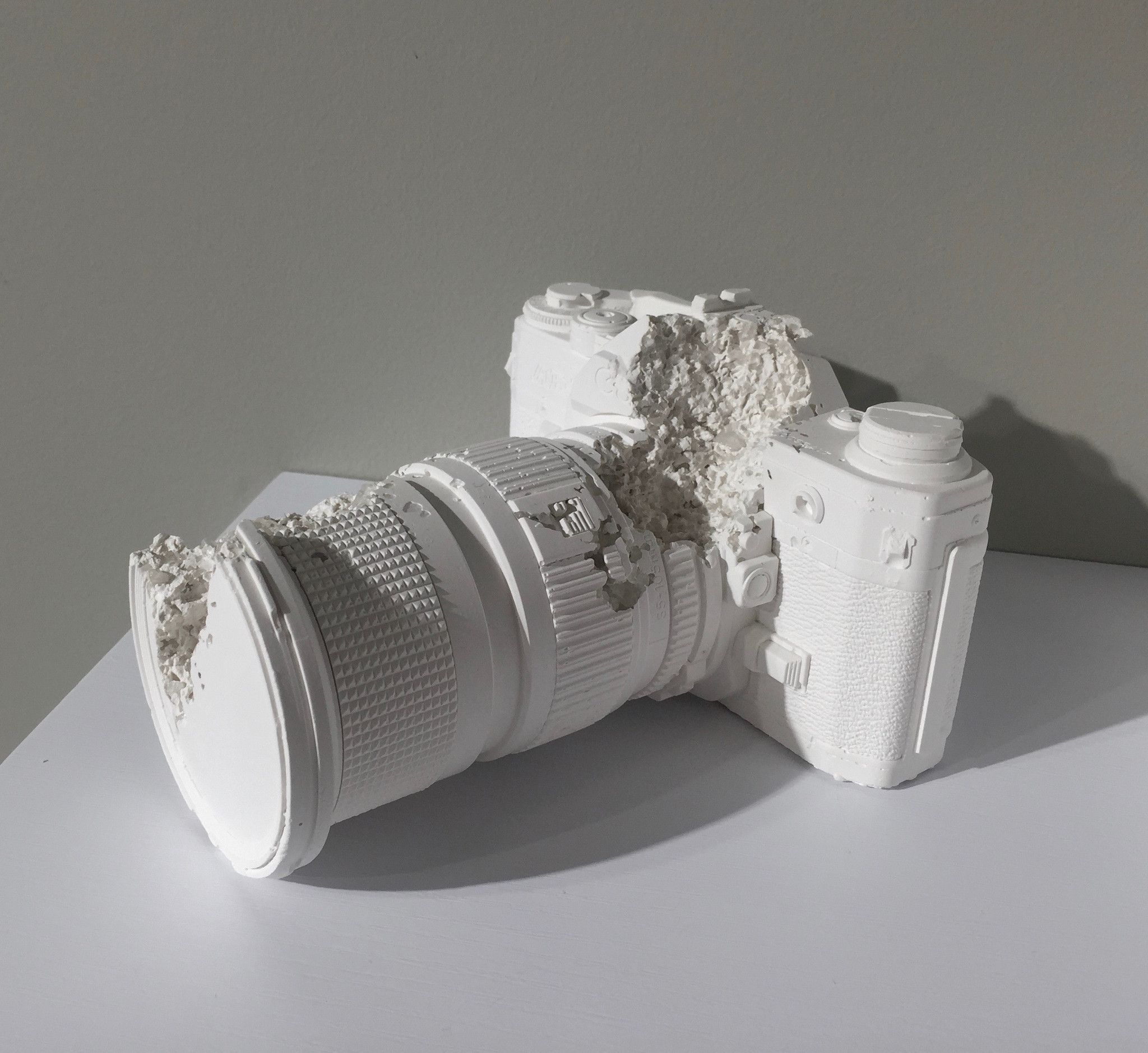 "Daniel Arsham Future Relic 02 (Camera), 2014 Edition of 450 Medium: Plaster and Broken Glass Dimensions: 5.75"" x 6.25"" x 3.75"""
