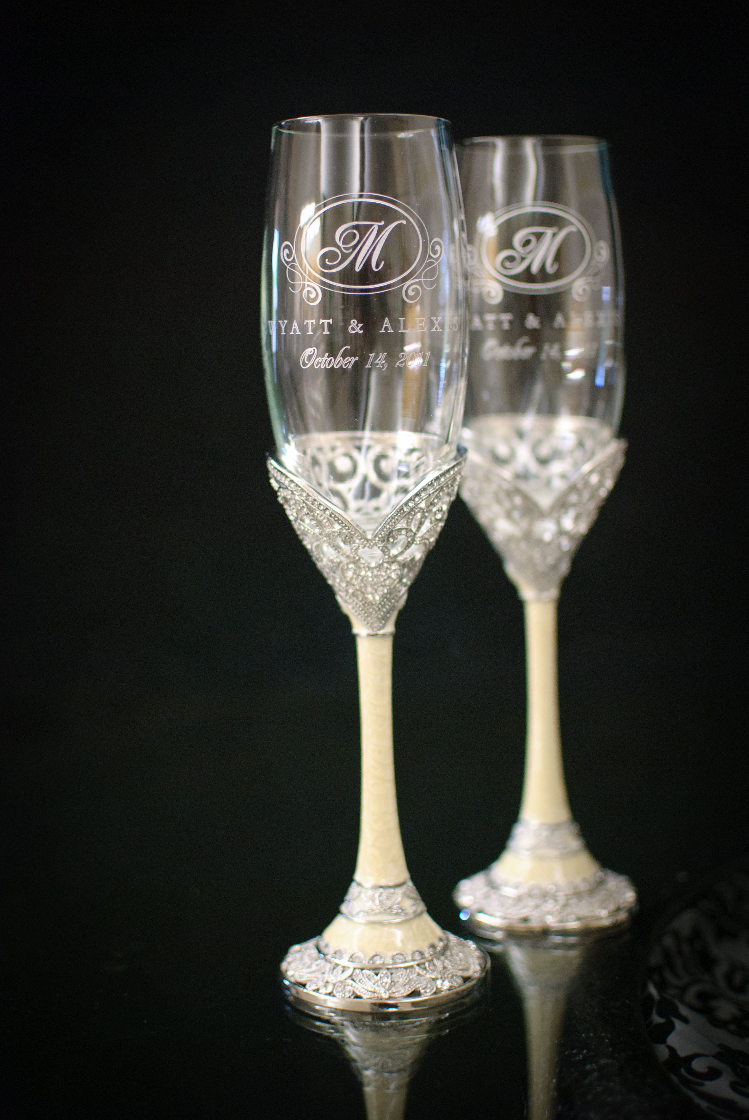 Things Remembered Wedding Gifts | Our Wedding Glasses From Things Remembered Just Me Pinterest