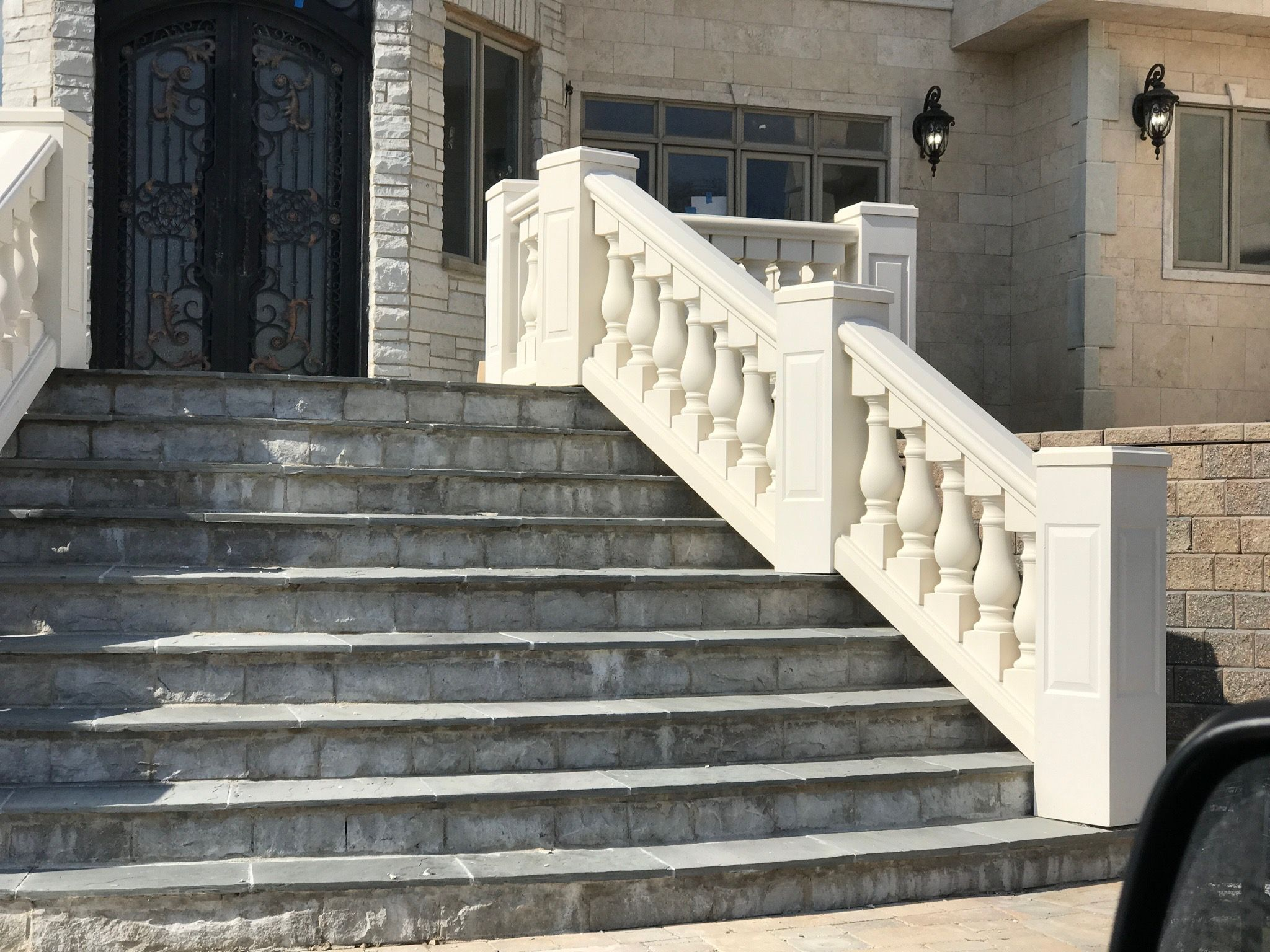 Balustrades Exterior Stairs Synthetic Stone Stone Stairs
