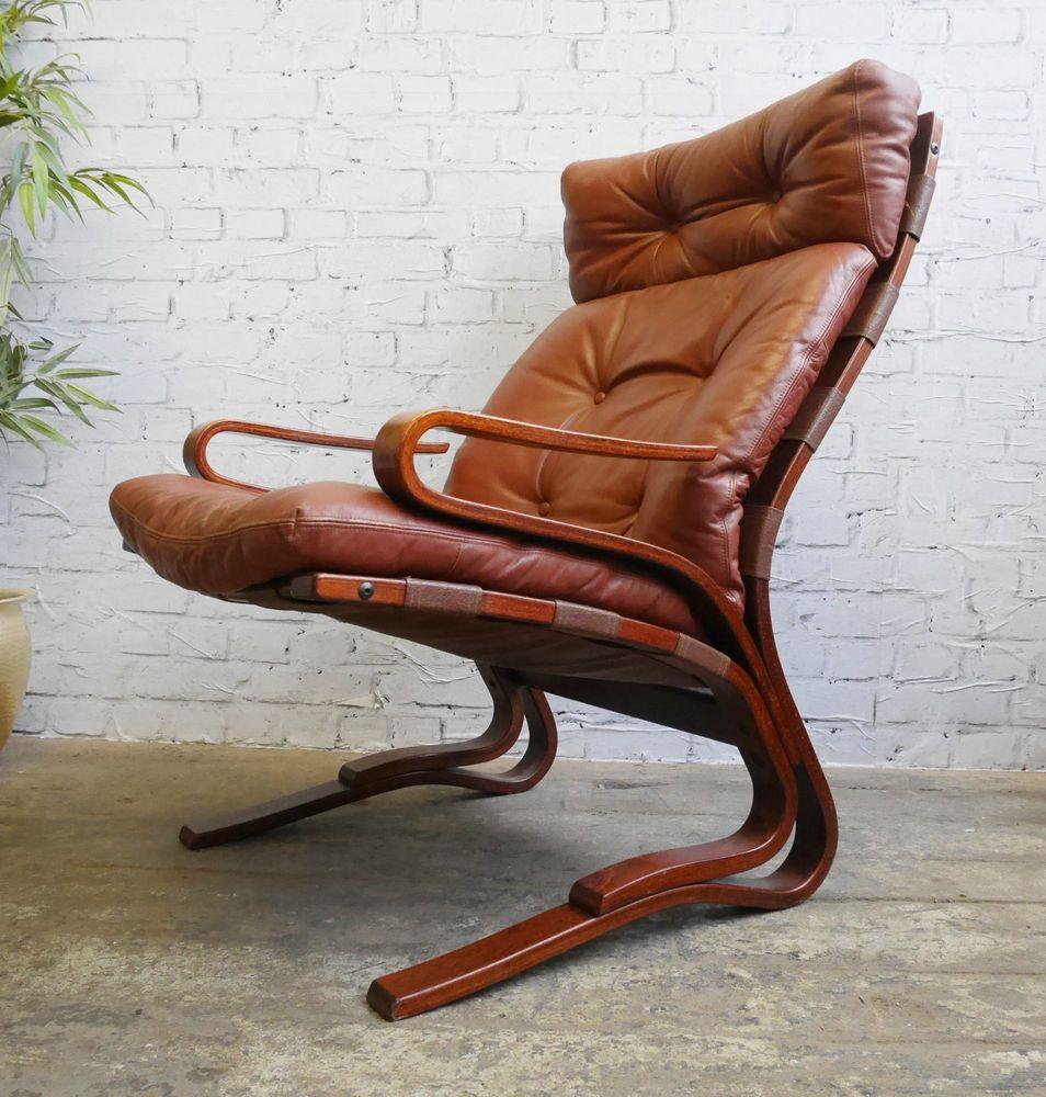 Vintage Retro 60s Mid Century Danish Era Westnofa Bentwood Leather Lounge Chair Ebay Modern Decor