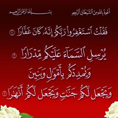 فقلت استغفروا ربكم Quran Verses Prayer For The Day Islamic Calligraphy