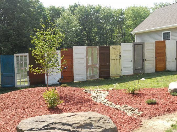 reuse old doors as a privacy fence & reuse old doors as a privacy fence | Garden/Outdoor Decor ...
