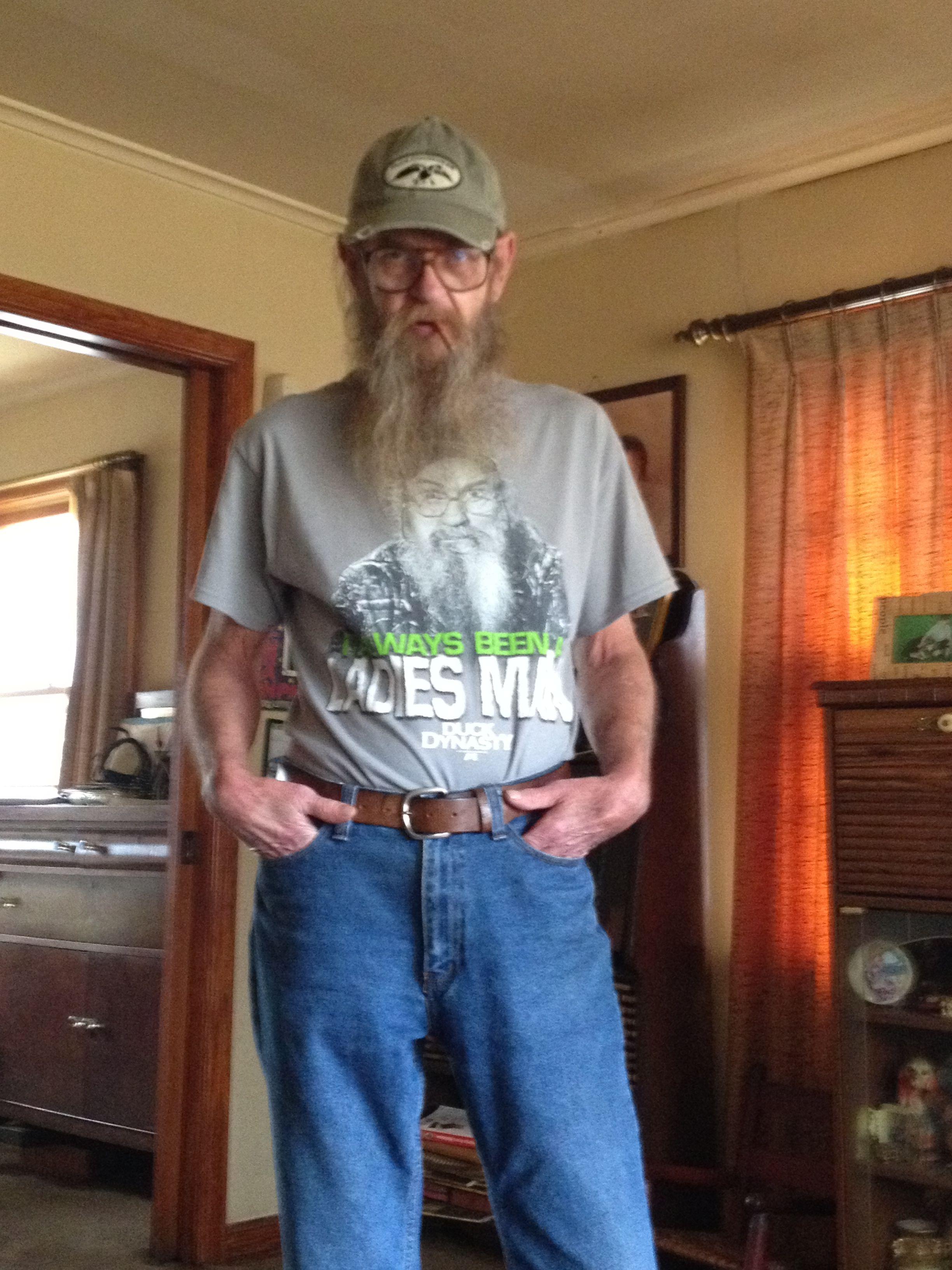 My dad. Love him.  Uncle Si's long lost twin. #mydadsbetterthanyourdad. #duckdynasty