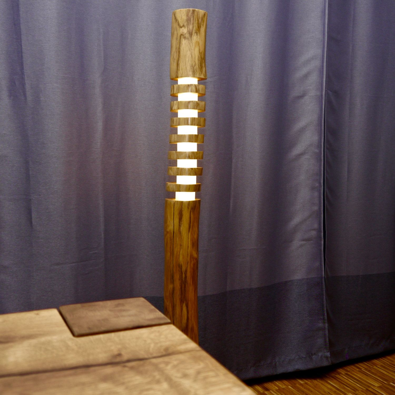 Holz Stehlampe Design Wooden Floor Lamp No3 F Lb150 Led Lampe
