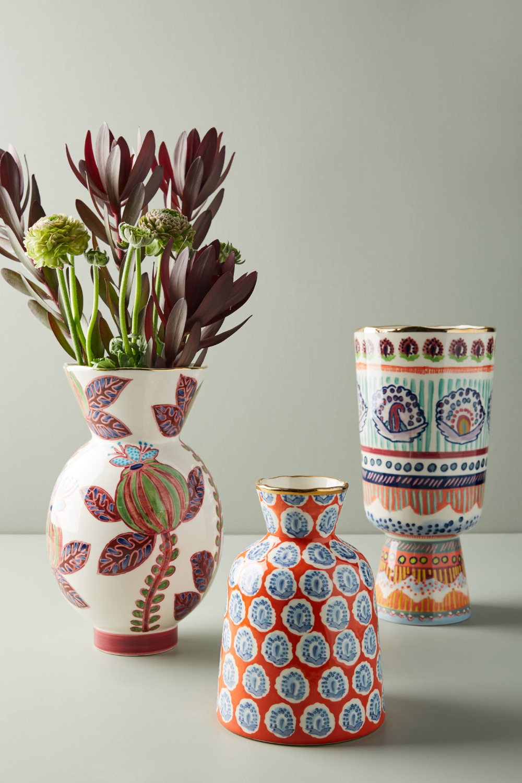Painted Elza Vase by Anthropologie in Purple, Vases