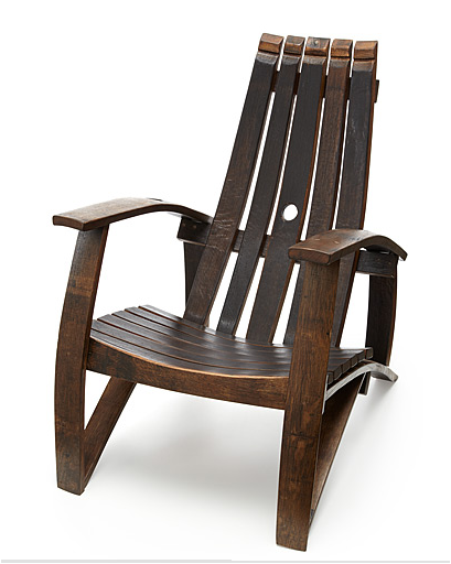 UPCYCLED WINE BARREL CHAIR