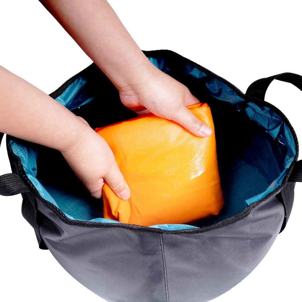 Rainleaf Collapsible Water Bucket Bag Travel Portable Wash
