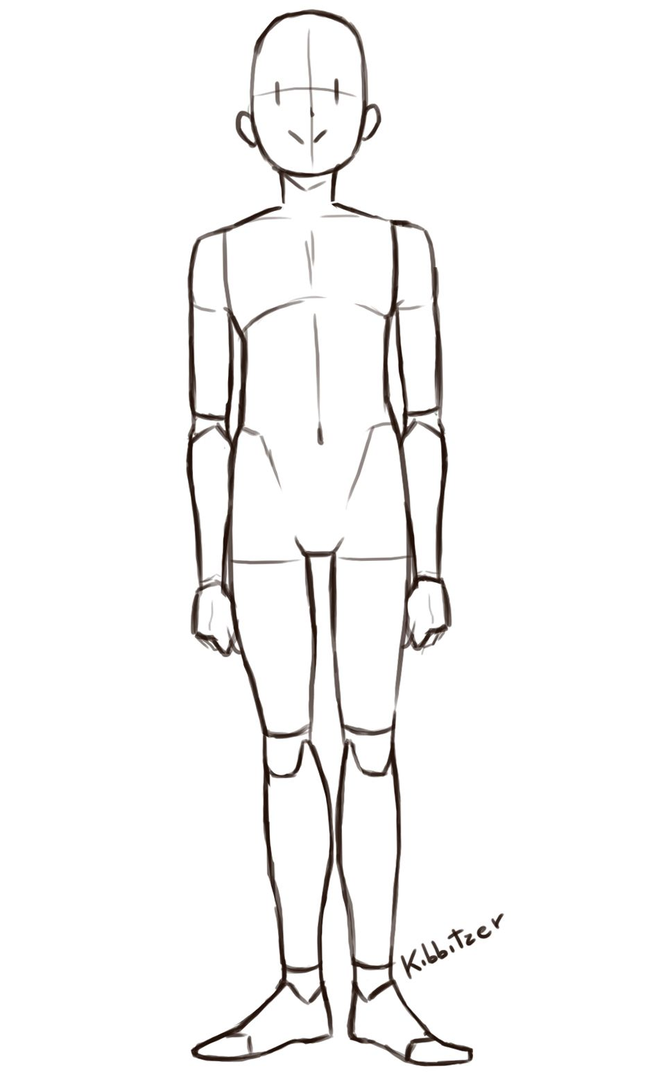 This is a picture of Bright Man Poses Drawing