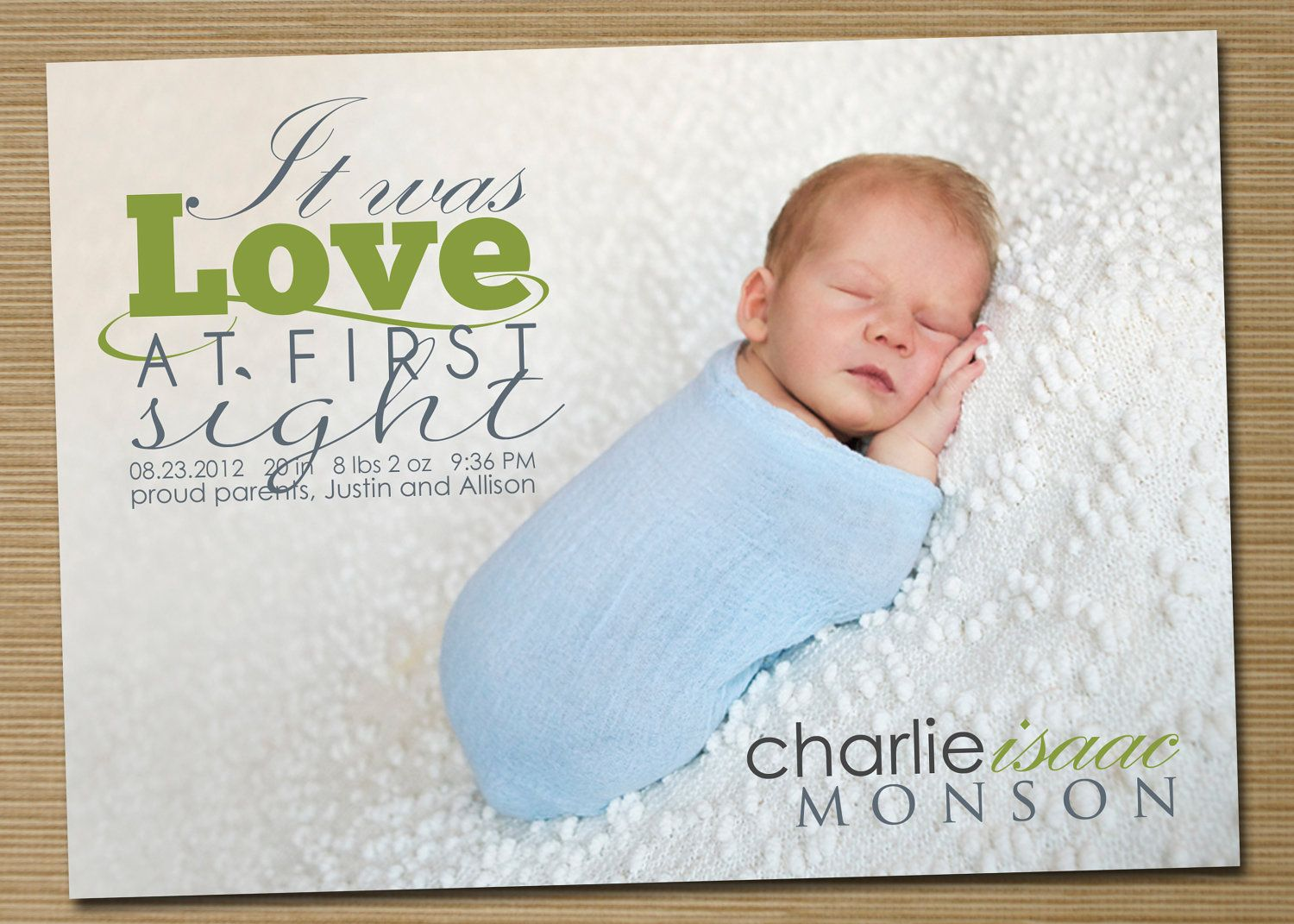 17 Best images about Best Pregnancy Baby Birth Announcements on – Baby Boy Birth Announcements