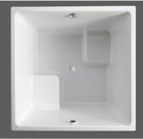 kohler k19680 underscore series 48 white bath tubs square 48 bathtub for small spaces home. Black Bedroom Furniture Sets. Home Design Ideas