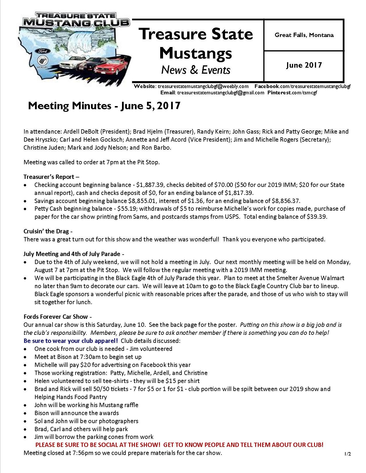 Click the link to view our entire June 2017 newsletter:  http://treasurestatemustangclubgf.weebly.com/uploads/2/6/9/1/26917180/june_2017_newsletter.pdf
