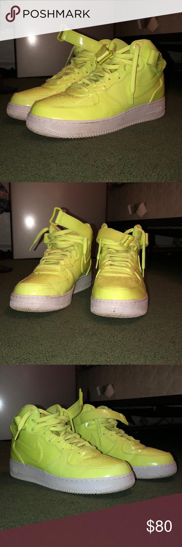 highlighter yellow nikes