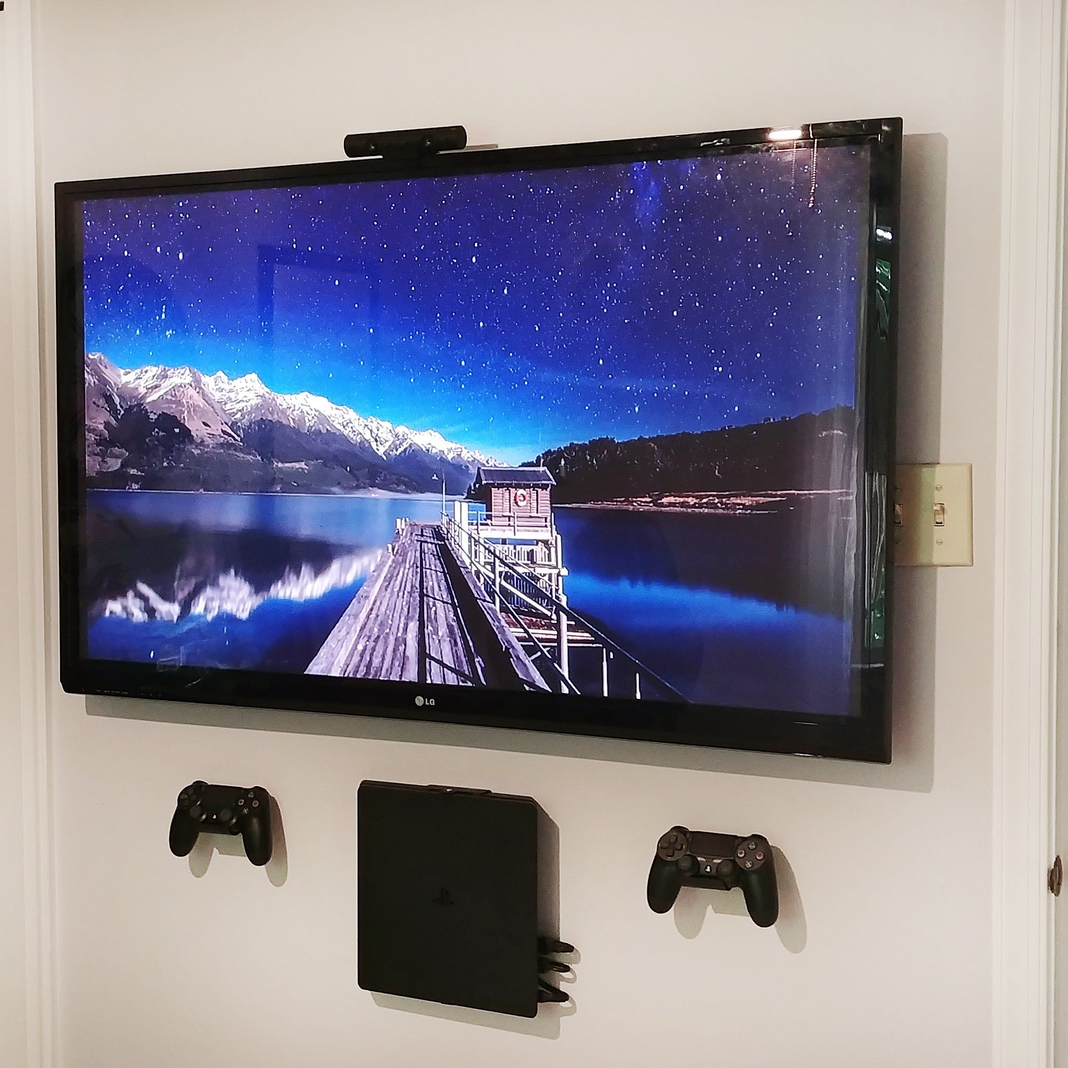 Afterhideit Image Gallery Wall Mounted Tv Tv Wall Video Game Rooms