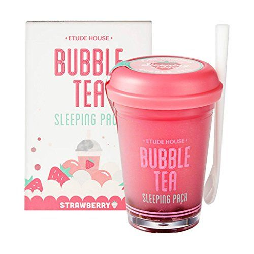 Photo of Etude house bubble tea sleeping pack (100g) (Strawberry Tea)
