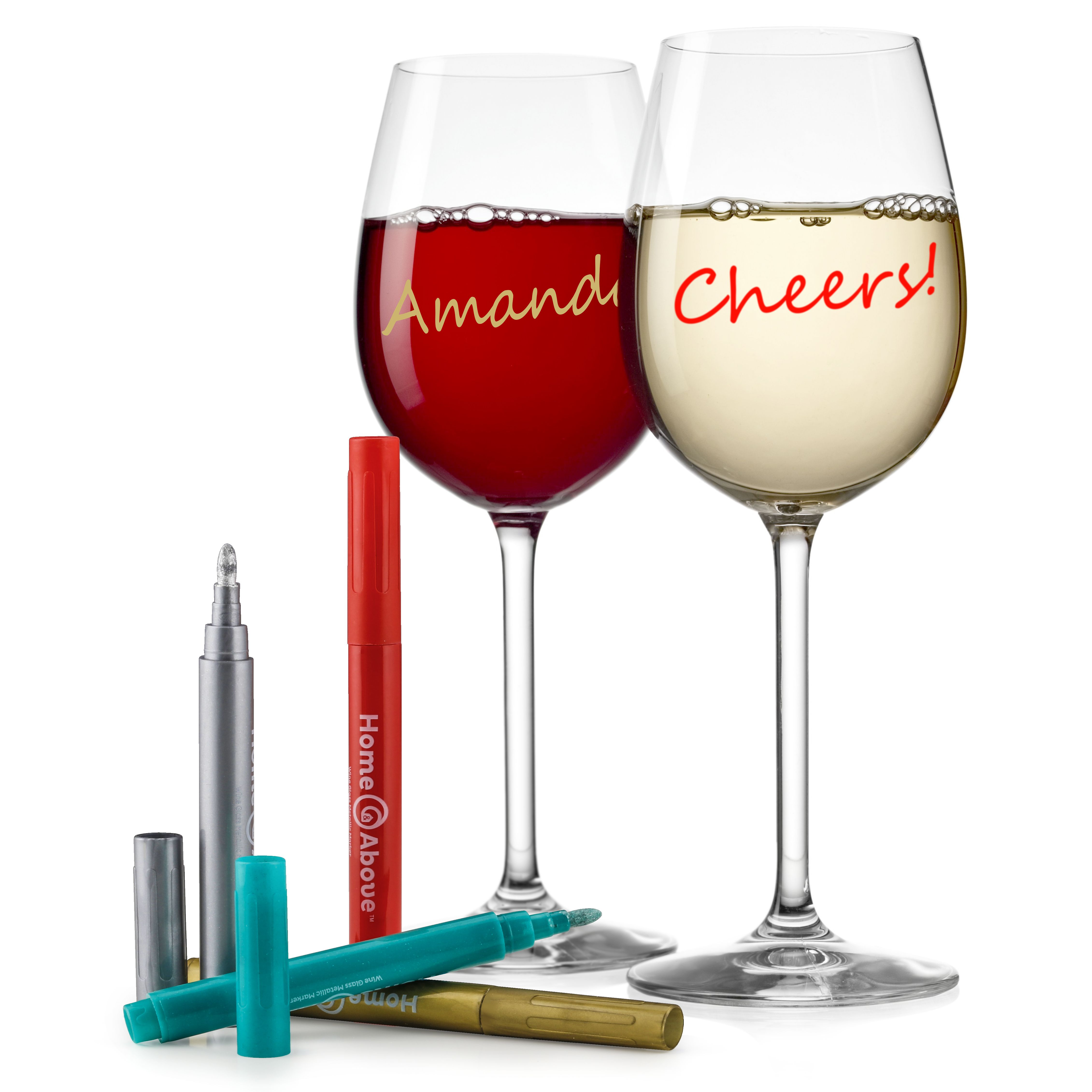 Wine Glass Metallic Markers Available Now Online Don T Limit Yourself To Just Wine Glasses These Metallic Markers Wine Glass Markers Wine Glass Glass Marker