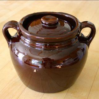 Stoneware Crock Pottery Dark Brown Glazed Stoneware Bean Pot Crock With Lid 8 Glazes For Pottery Stoneware Crocks Bean Pot