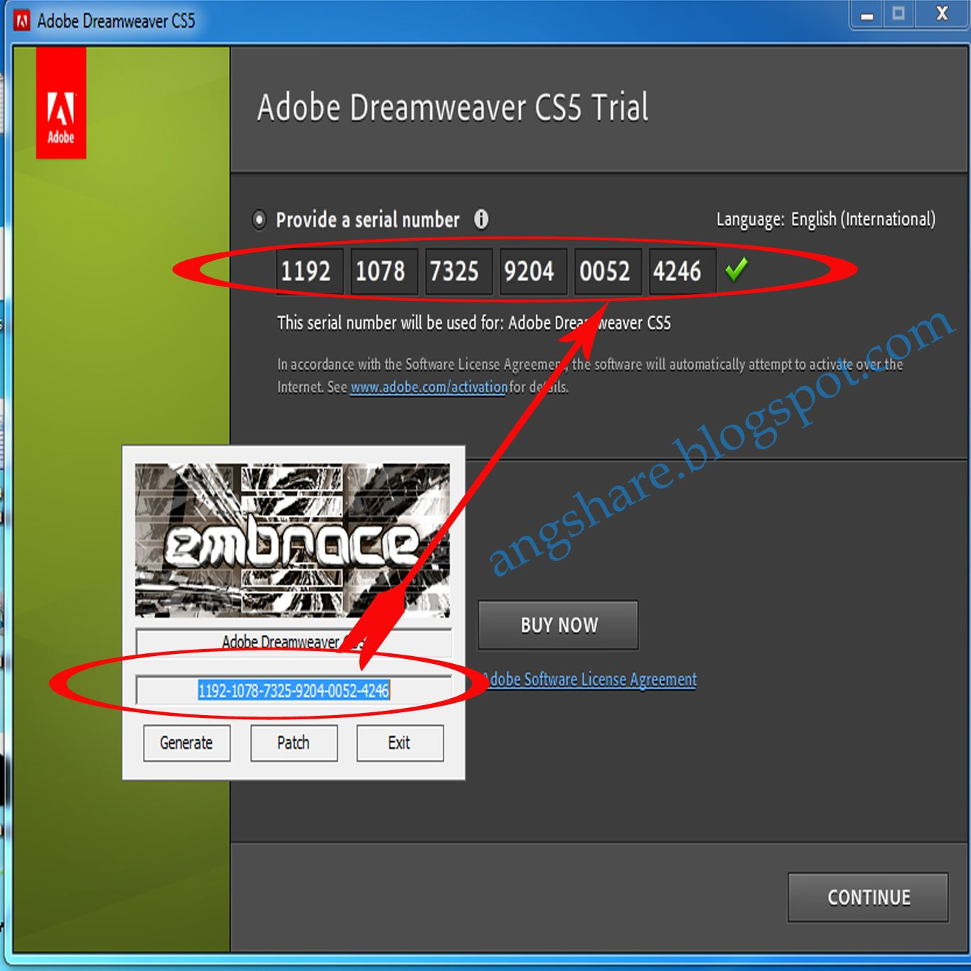 how to find adobe serial number in registry