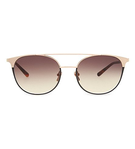 43df5fd7543 LINDA FARROW Lfl421 Tortoise Shell Browline Sunglasses.  lindafarrow   sunglasses